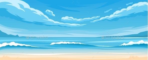 Simple Ocean Landscape - Landscapes Nature