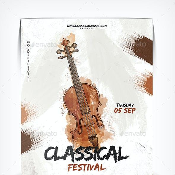 Classical Festival Flyer