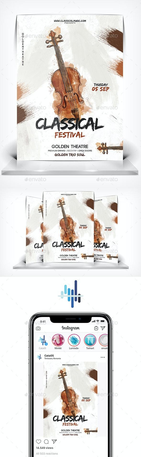 Classical Festival Flyer - Flyers Print Templates