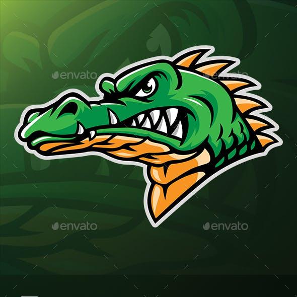 Alligator Head Mascot Vector