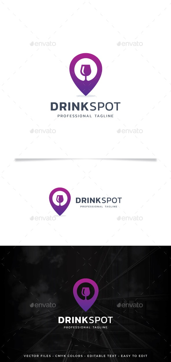 Drink Spot Logo - Symbols Logo Templates