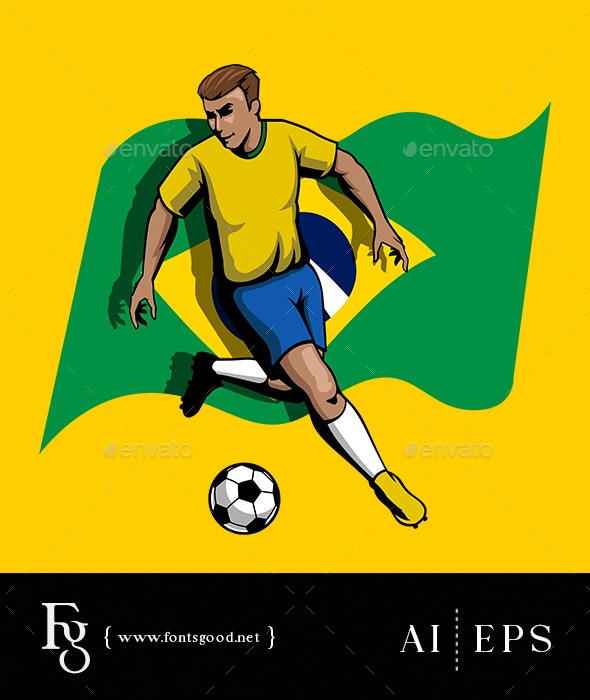 Soccerman Brazil - Sports/Activity Conceptual