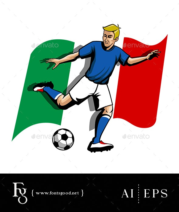 Soccerman Italy - Sports/Activity Conceptual