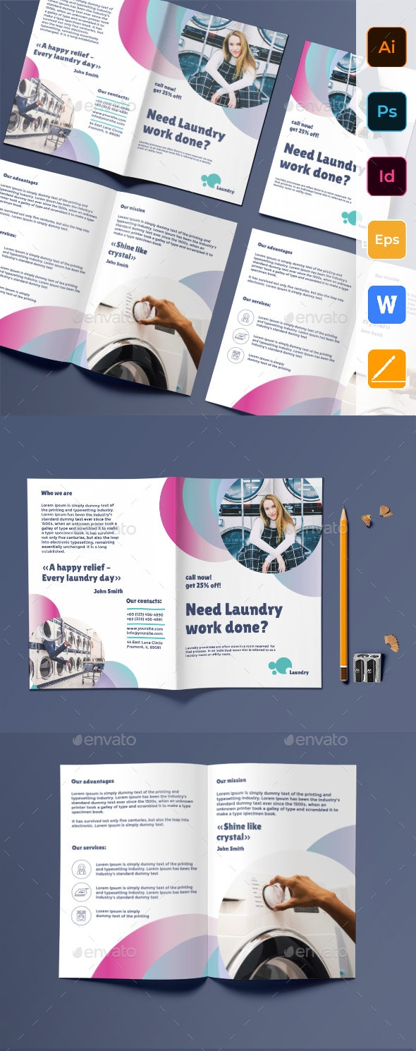 Laundry Bifold Brochure - Corporate Brochures
