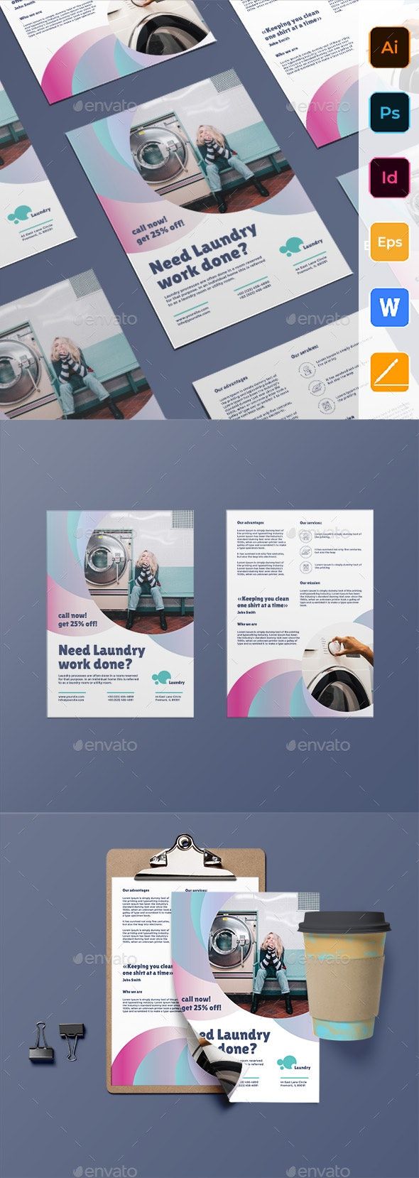 Laundry Flyer - Corporate Flyers