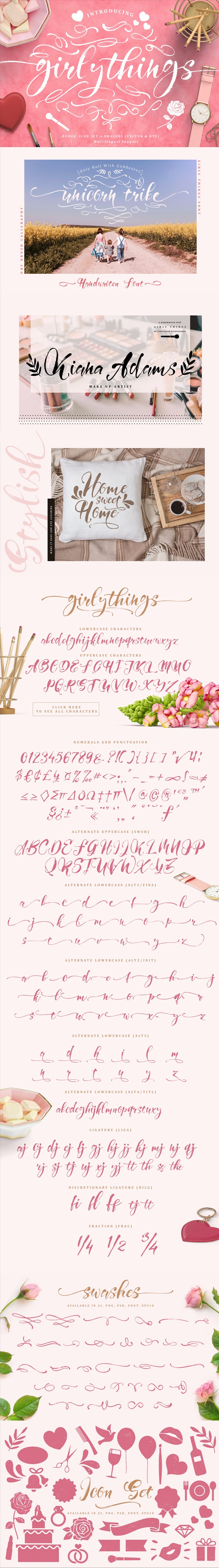Girly Things - Script Fonts