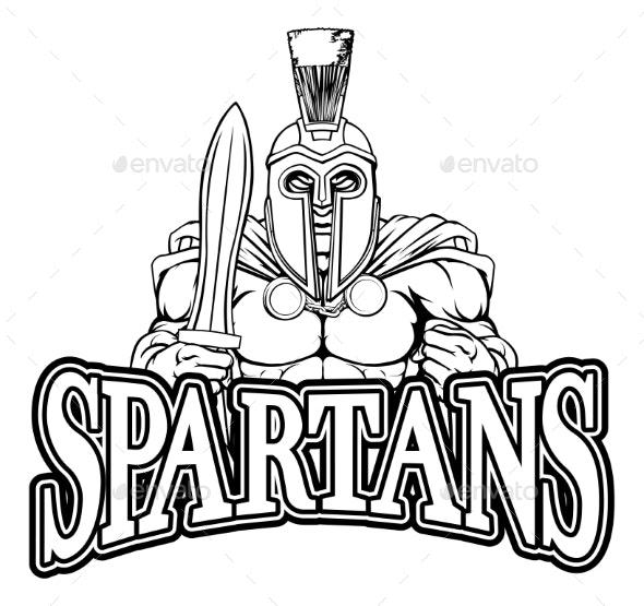 Spartan Trojan Sports Mascot - Sports/Activity Conceptual