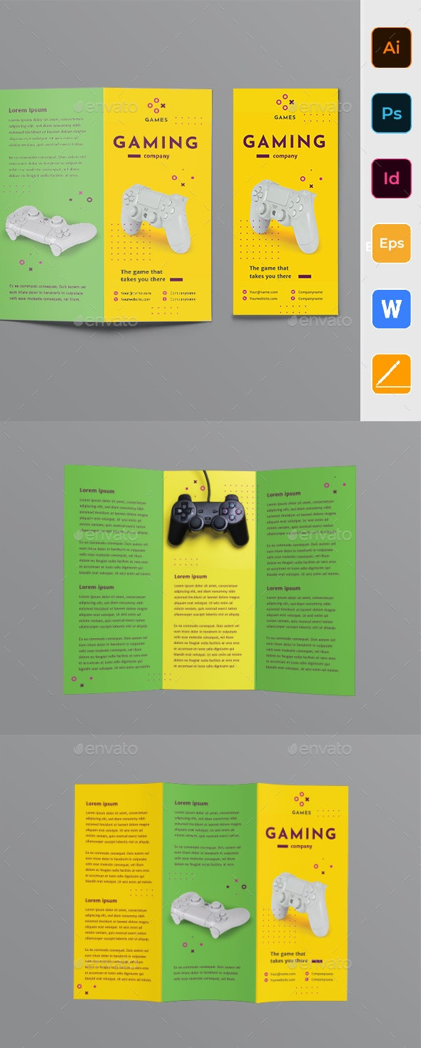 Gaming Company Trifold Brochure - Corporate Brochures