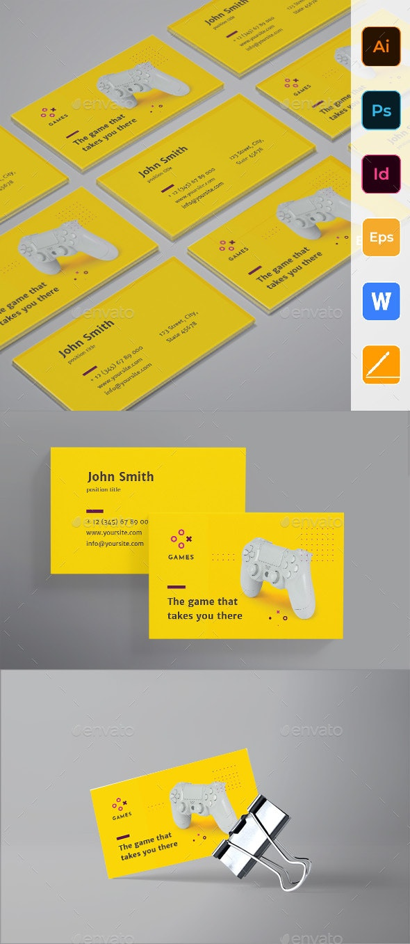 Gaming Company Business Card - Corporate Business Cards