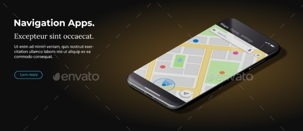 Modern Black Smart Phone Lies on a Smooth Dark - Computers Technology