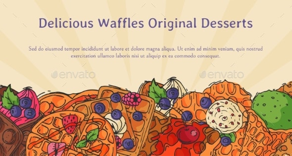 Crispy Wafer Recipe Poster Chocolate Cream Flavor - Food Objects