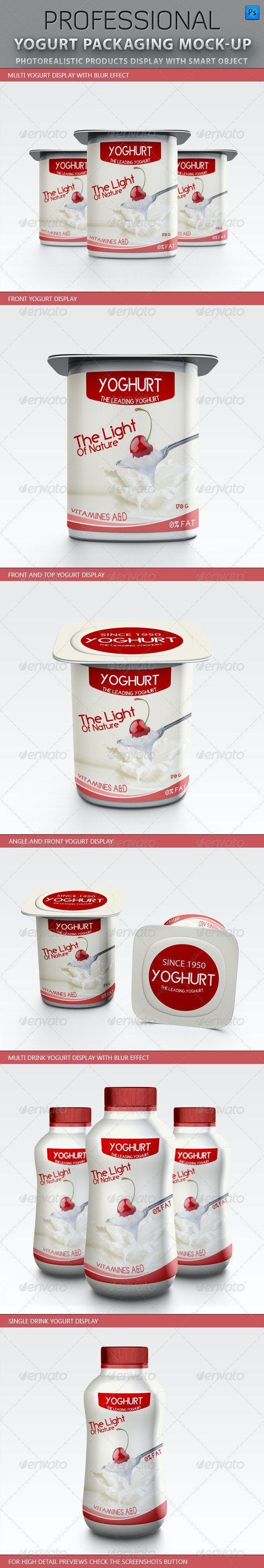 Yogurt packaging Mockup - Food and Drink Packaging