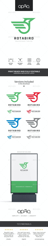 Circular Bird Logo - Animals Logo Templates