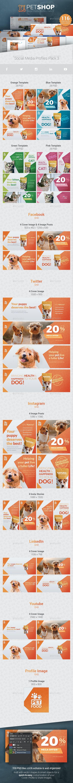 PetShop - Social Media Cover/Profile Pack 3 - Social Media Web Elements