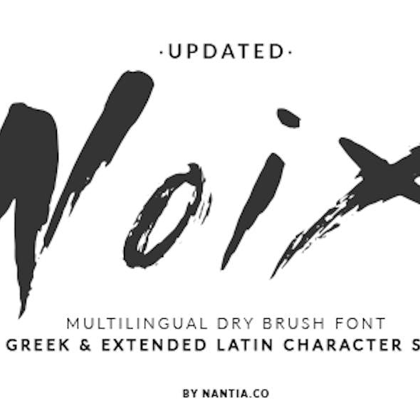 Noix Dry Brush Greek Font