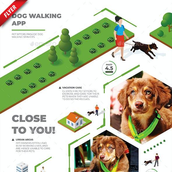 Dog Walking App Business Flyer