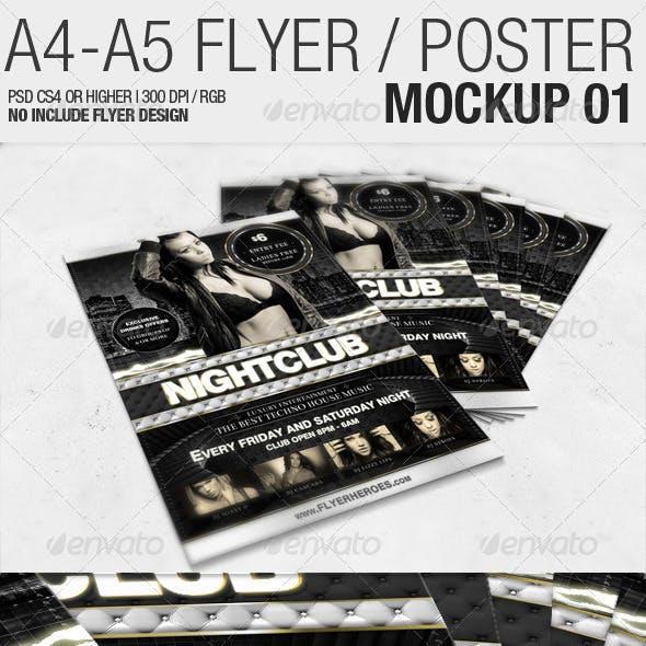 A4 - A5 Flyer Mockup 01