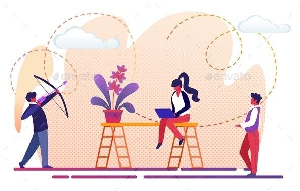 Office People Teamwork Process Metaphor - People Characters