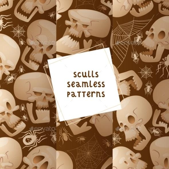 Skull Seamless Pattern Vector Dead Head Crossbones - Miscellaneous Vectors