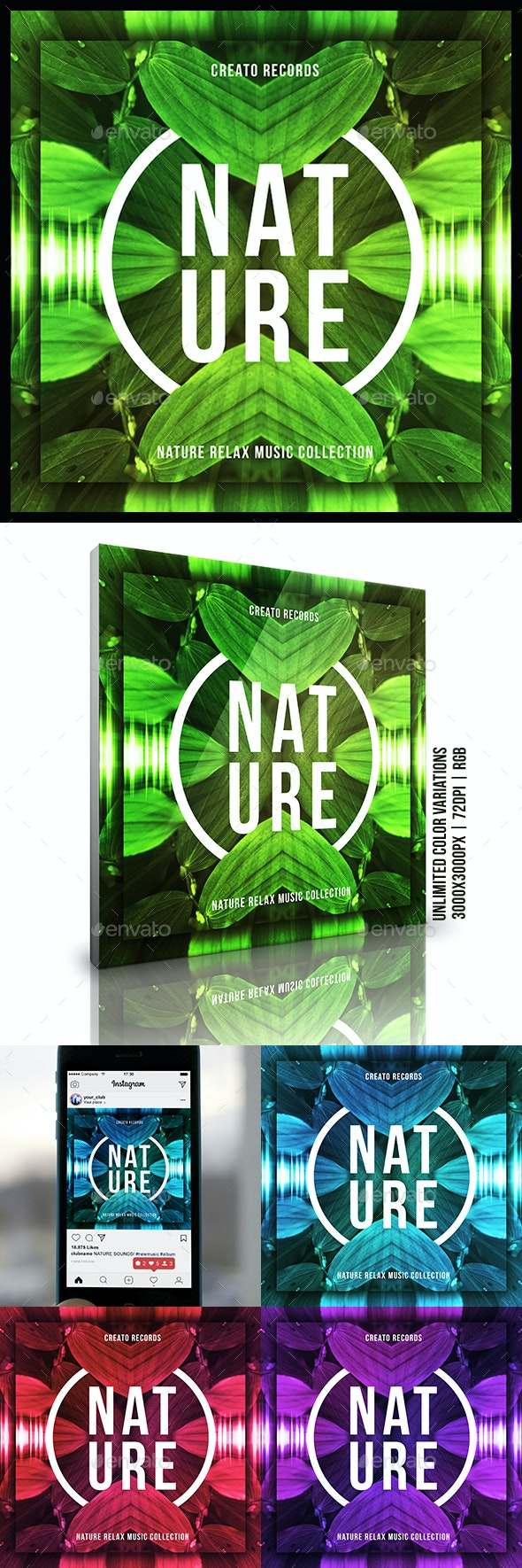 Nature Music Album Cover Artwork Template - Miscellaneous Social Media