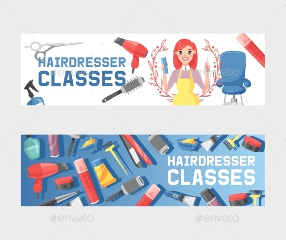 Hairdresser Tools Vector Pattern Haircutter Woman - Services Commercial / Shopping