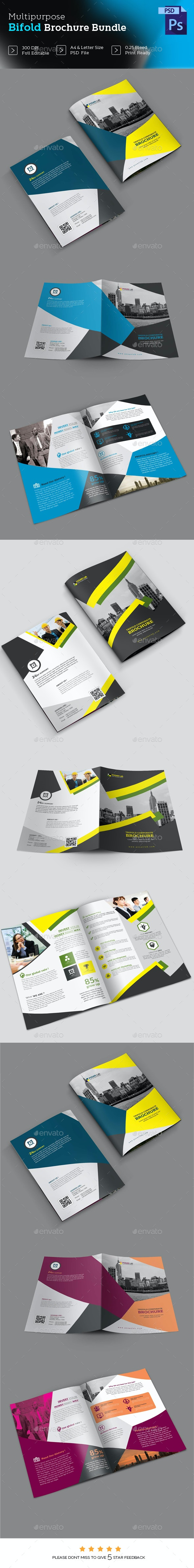 Bifold Business Brochure Bundle - Brochures Print Templates