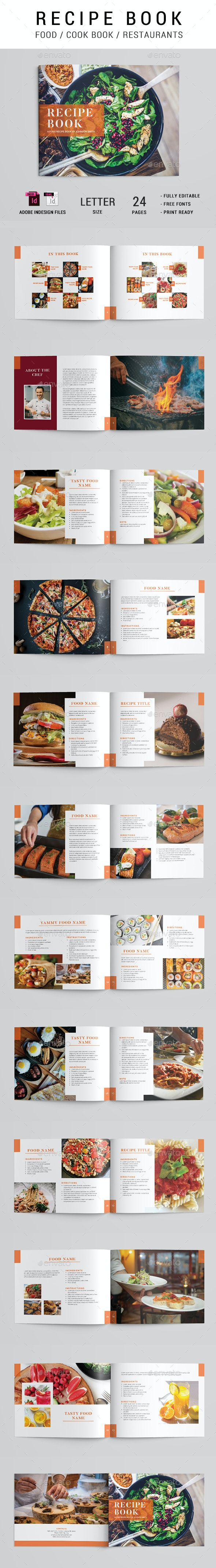 Cook Book / Recipe Brochure - Brochures Print Templates
