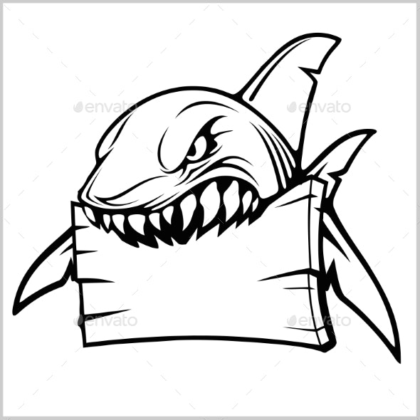 Shark Logo for a Sport Team on White - Animals Characters
