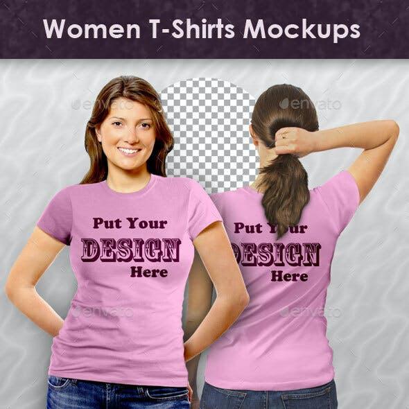 Women T-Shirts Mockups