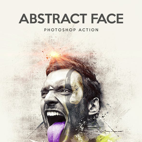 Abstract Face - Photoshop Action