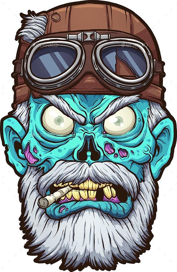 Zombie Biker - Characters Vectors