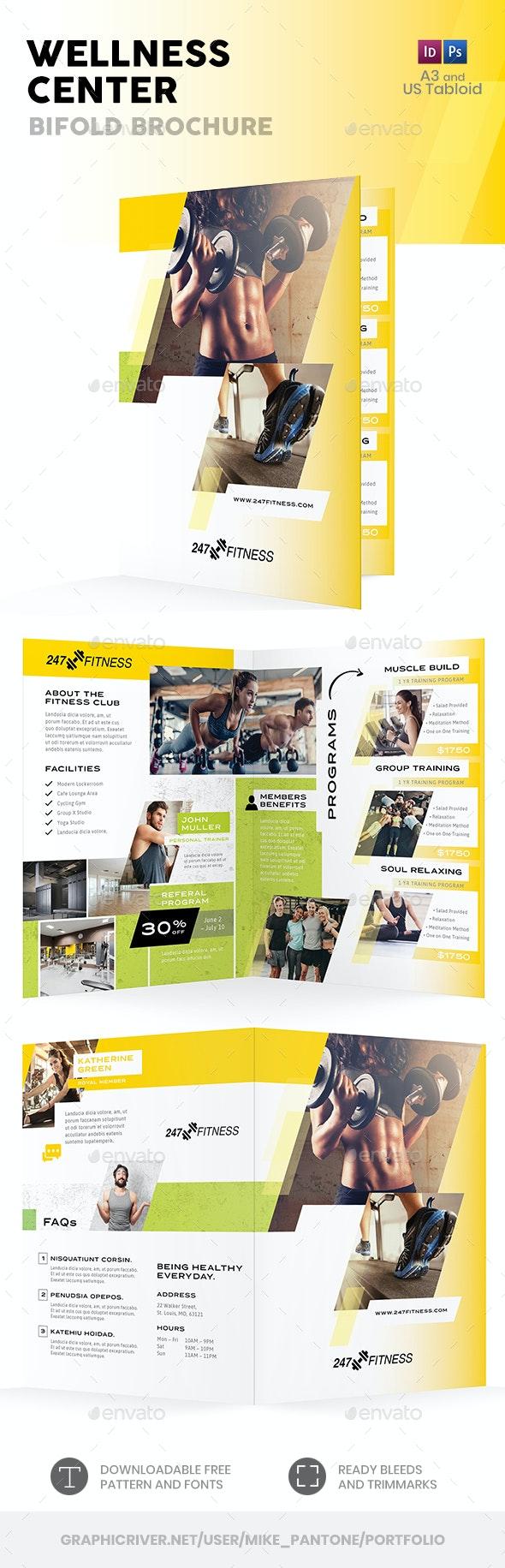Wellness Center Bifold / Halffold Brochure 3 - Informational Brochures