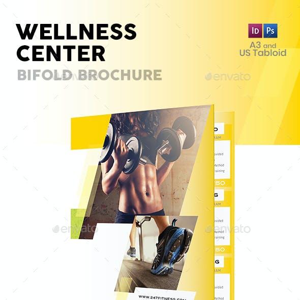 Wellness Center Bifold / Halffold Brochure 3
