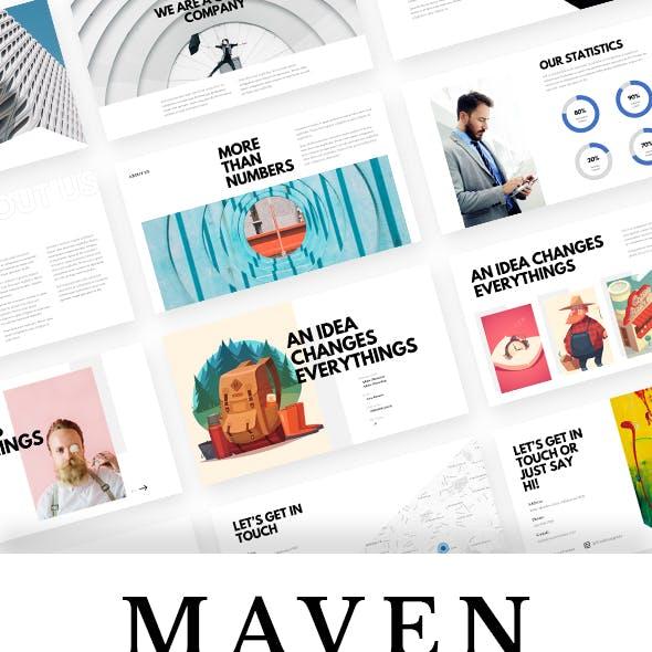 Maven - Creative Simple Powerpoint Template