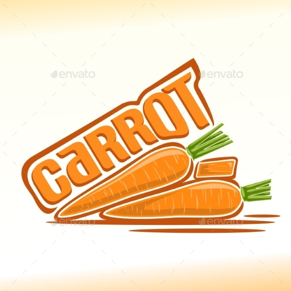 Vector Logo for Carrot - Food Objects