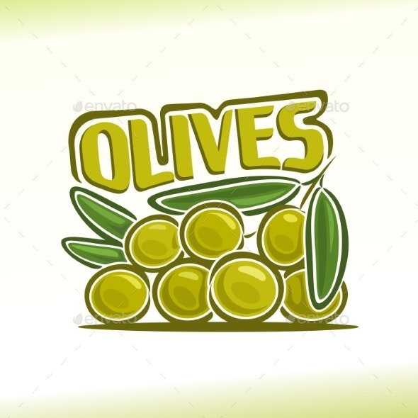Vector Logo for Olives - Food Objects