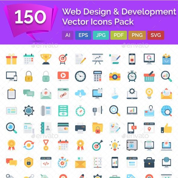 150 Web Design & Development Vector Icons