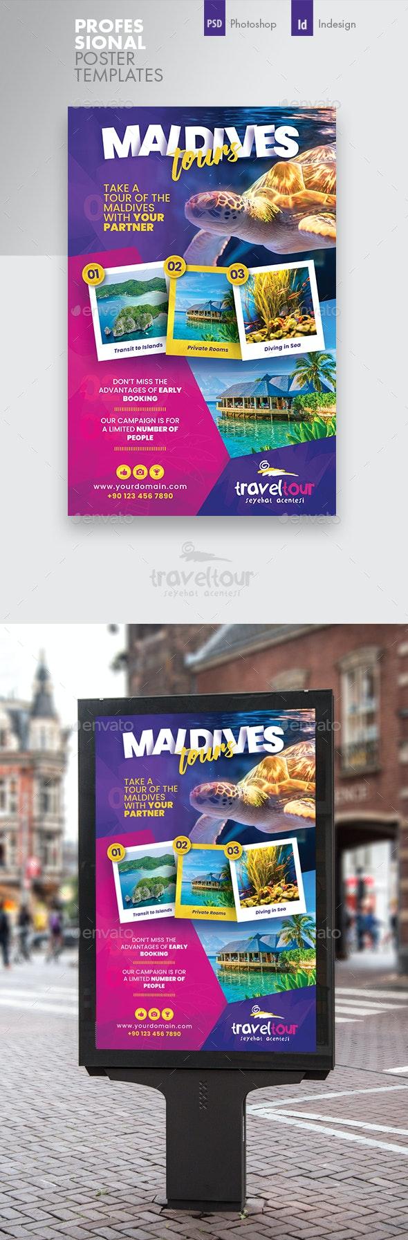 Travel Tours Poster Templates - Signage Print Templates