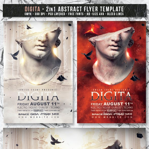 Digita | 2in1 Abstract Flyer Template