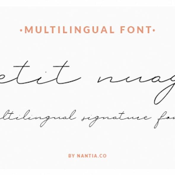 Petit Nuage Signature Font Greek