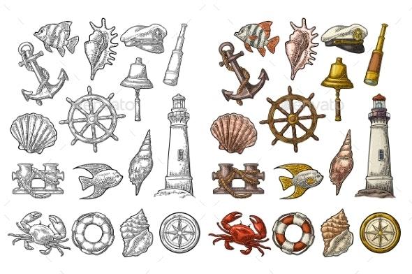 Sea Adventure Set - Miscellaneous Vectors