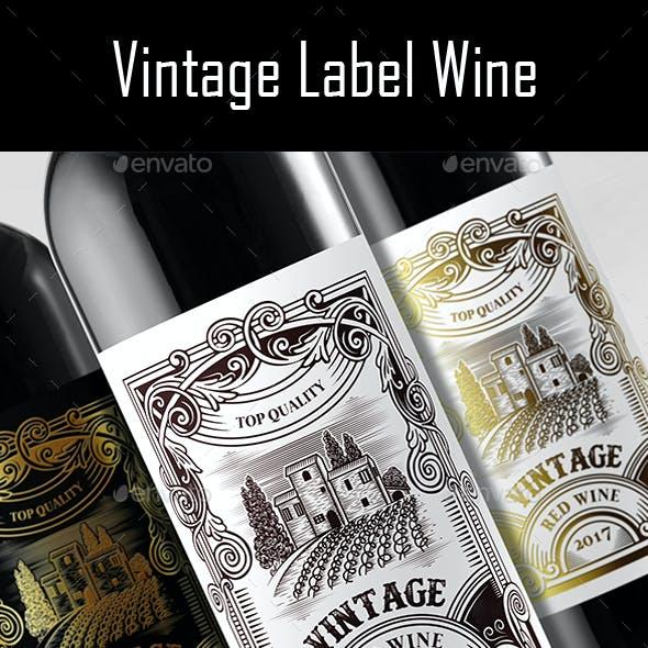 Vintage Label Wine