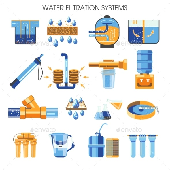 Cleaning Supply Water Filtration Systems Isolated - Industries Business