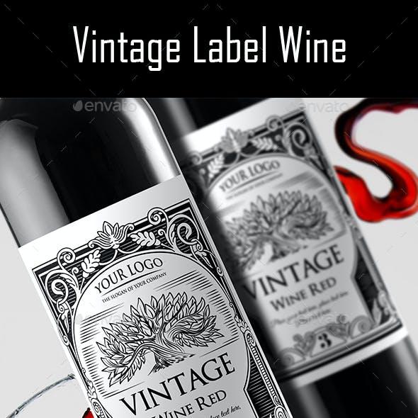 Vintage Label Wine v.2