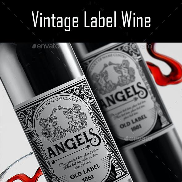 Vintage Label Wine v.3