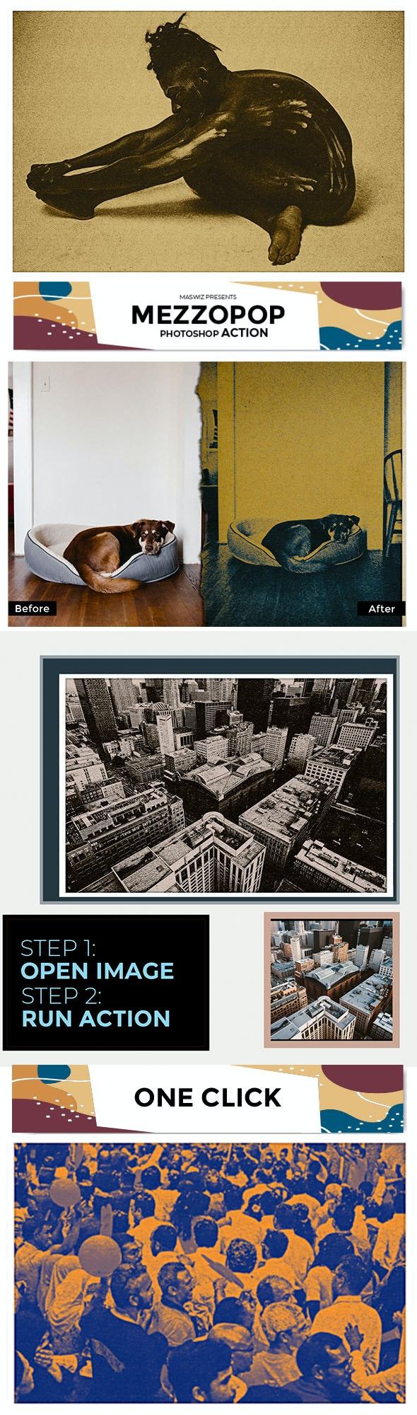 Maswiz Mezzopop Photo Action - Photo Effects Actions