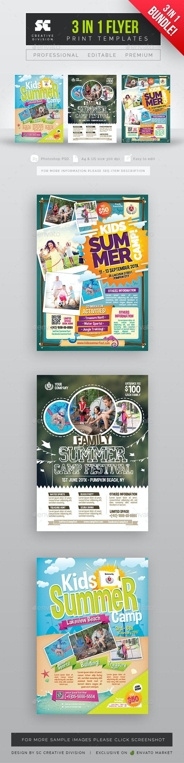 Kids Summer Camp Flyer Bundle - Holidays Events