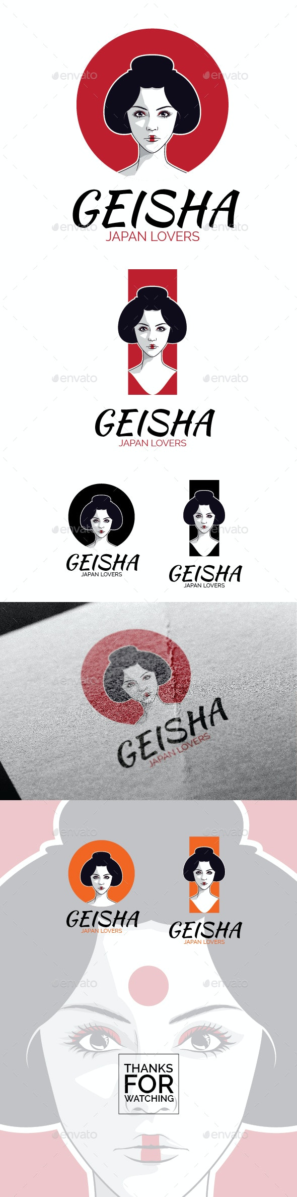 Geisha Logo - Humans Logo Templates