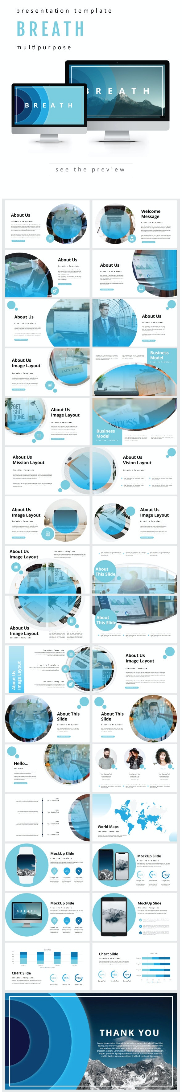 Breath Presentation Templates - Business PowerPoint Templates