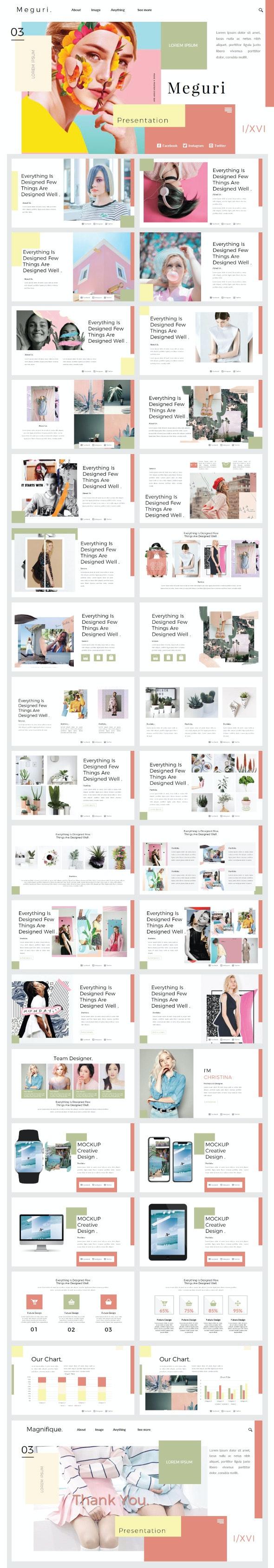 Meguri Presentation Template - Creative PowerPoint Templates